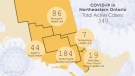 The number of active cases of COVID-19 in northeastern Ontario as of April 18/21 at 5:00 p.m. (CTV Northern Ontario)