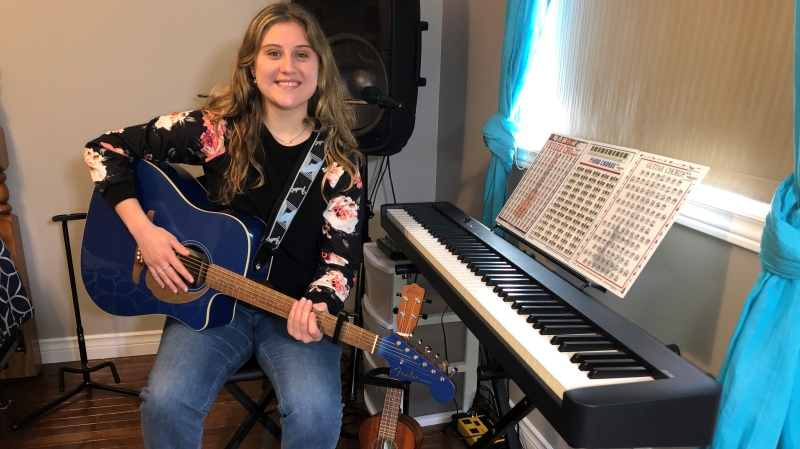Musician, Vanessa Grace uses her experience as a nurse to write her music (Alana Hadadean / CTV News)