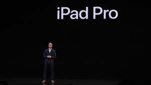Tim Cook and Apple are hosting its first event of 2021 on April 20 and it'll likely focus on new iPads, along with a product that's been years in the making. (Stephanie Keith/Getty Images)