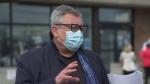Quebec public health director Horacio Arruda speaks to media on April 19, 2021.