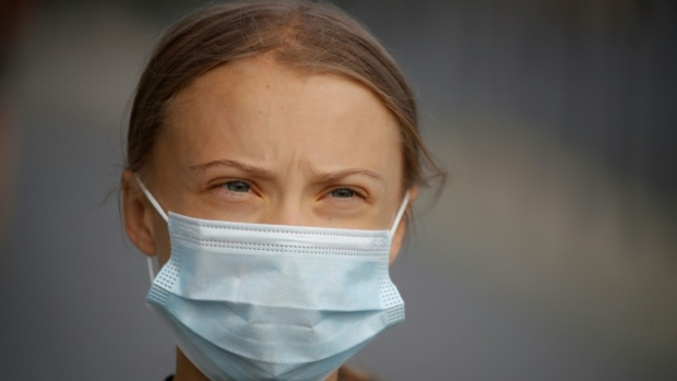 Greta Thunberg has said she will skip a major climate summit in November because of the uneven vaccine rollout (AFP)