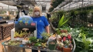 Lynne Kring, general manager of Parkway Garden Centre in London Ont. on April 19, 2021. (Jordyn Read/CTV London)