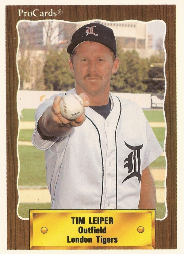 Tim Leiper London Tigers Baseball Card