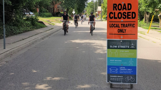 A sign for the Slow Streets initiative (Supplied: City of Kitchener)
