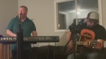 Two Sudbury musicians perform 'Take it Easy'