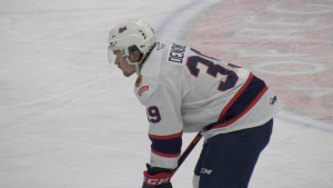 Pats' forward Carson Denomie, playing in the Regina WHL hub, has five games left is his junior hockey career. (Claire Hanna/CTV Regina)