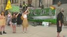 Environmental activists march through Victoria