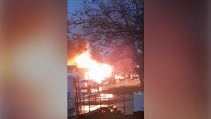 Emergency crews responded to a fire on Line 86 in Listowel on Monday evening. (Photo/Lee McEachern)