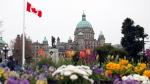 The B.C. Legislature is seen on April 9, 2021. THE CANADIAN PRESS/Chad Hipolito