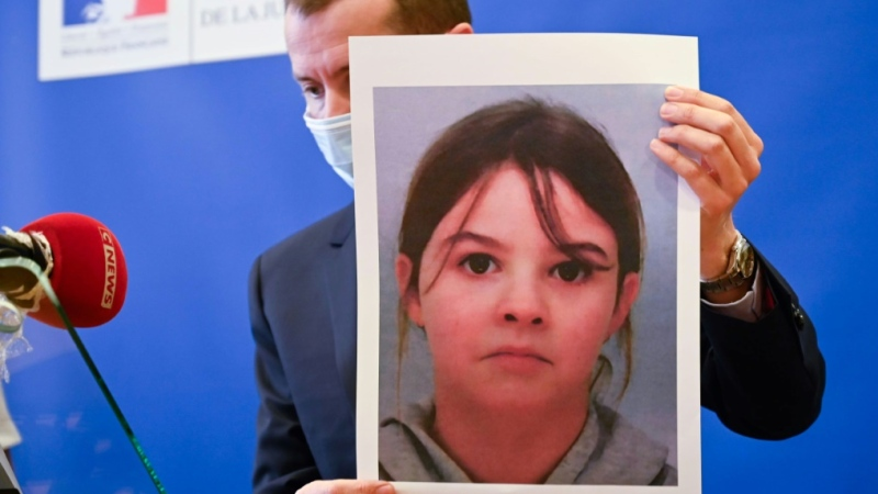 Police found Mia, 8, and her mother at a squat in Switzerland after a frantic five-day search. (AFP)