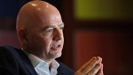 Gianni Infantino warns clubs signed up to the new European Super League. (Karim Jaafar/AFP/Getty Images)