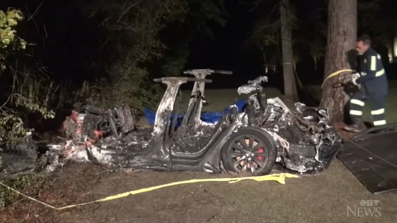 No one behind the wheel of deadly Tesla crash