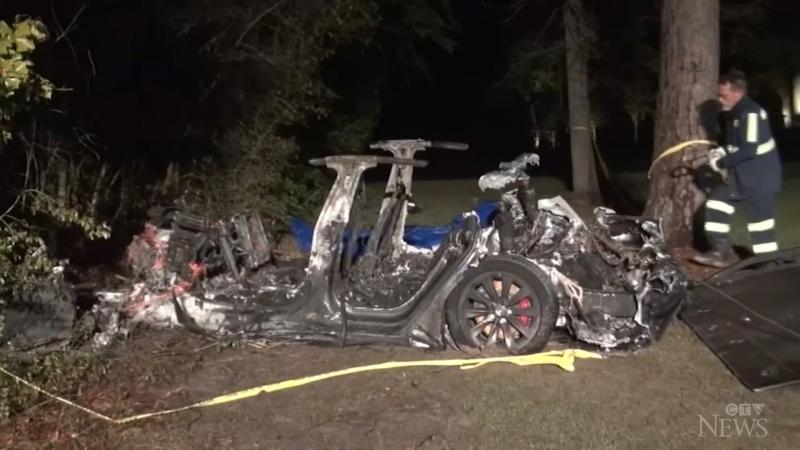 No one behind the wheel of deadly Tesla crash