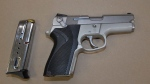 Handgun found by Sudbury police after kidnapping and home invasion in New Sudbury. April 20/21 (Greater Sudbury Police Service)