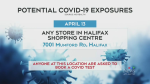 Potential exposure warning for Halifax mall
