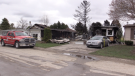 Several modular homes were heavily damaged by fire on Monday, April 19, 2021. (Scott Miller / CTV London)