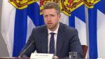 Nova Scotia Premier Iain Rankin speaks at a COVID-19 media briefing in Halifax on April 20, 2021.