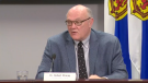 Nova Scotia chief medical officer of health Dr. Robert Strang provides an update on COVID-19 during a news conference in Halifax on April 20, 2021.