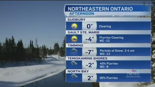 Cold temperatures return to the north