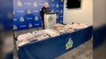Constable Rob Carver with the Winnipeg Police Service speaks about the results of Project Matriarch, an investigation into the production and trafficking of crack cocaine in Winnipeg, on April 20. (CTV News Photo Scott Andersson)