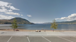 Okanagan Lake Beach in Penticton, B.C., is pictured in a photo from Google Street View.