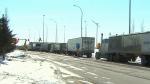 North Dakota helping vaccinate Manitoba truckers