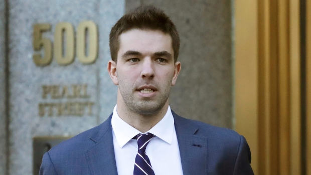 Nearly four years after the infamous Fyre Festival, scammed ticketholder could be awarded more than US$7,000 each. Pictured on March 6, 2018 is Billy McFarland, promoter of the failed Festival in the Bahamas. (Mark Lennihan/AP via CNN)