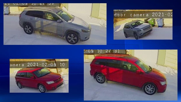 Police released CCTV images of the suspect vehicles in hopes that someone may have information that could help with the investigation.