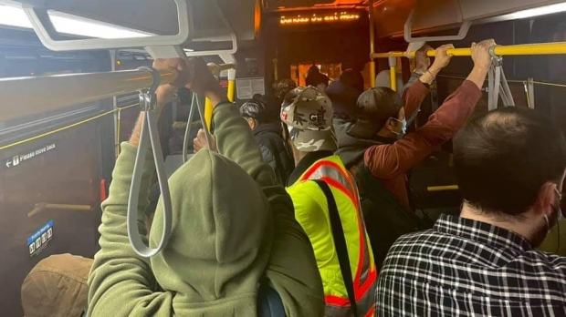 An overcrowded 300 Bloor-Danforth TTC bus is seen on April 12. (Provided by Dan Monich)