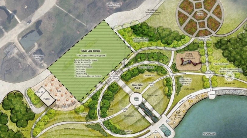 The plan for upgrades to Silver Lake (Supplied: City of Waterloo)