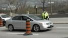 Ottawa police staff checkpoints, wave cars throug
