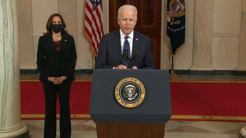 Joe Biden, Kamala Harris speak after Chauvin verdi
