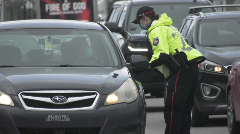 Ottawa Police to stop 24/7 monitoring of inter-provincial border crossings.