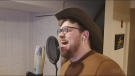 Nick Sheculski, a singer who is from Timmins and now lives in the Toronto area, performs his cover of 'Tennessee Whiskey.'