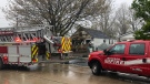 Fire crews quickly put out a house fire in the 1800 block of Balfour Boulevard in Windsor, Ont. on Tuesday, April 20, 2021. (Angelo Aversa/CTV Windsor)