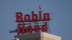 Historic Robin Hood sign returns