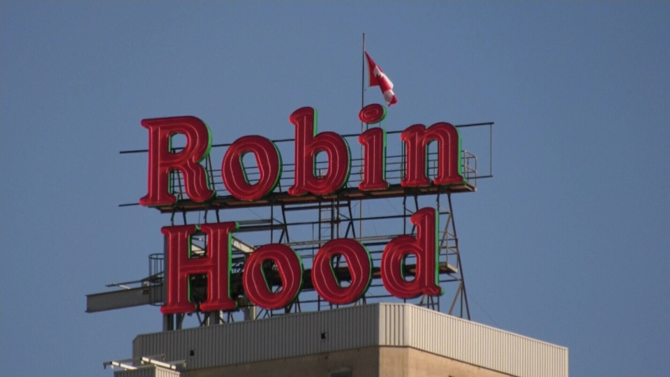 Historic Robin Hood sign returns