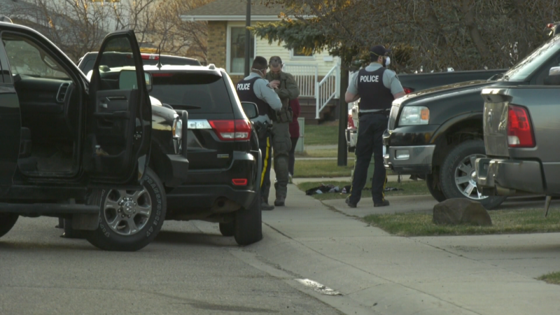 Mounties were called to a home on Gilbert Crescent in Red Deer on April 20, 2021, and stayed on scene over Tuesday night.