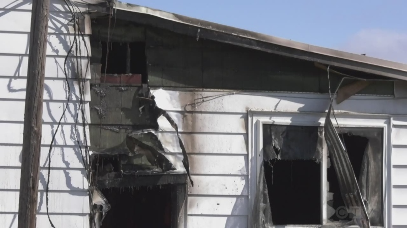 North Bay Fire and Emergency Services were called to three different fires Wednesday morning around the city starting around 4:30 a.m. April 21/21 (Alana Pickrell/CTV Northern Ontario)