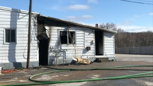 After a fire at residential building on O'Brien Street in North Bay. April 21/21 (Alana Pickrell/CTV Northern Ontario)
