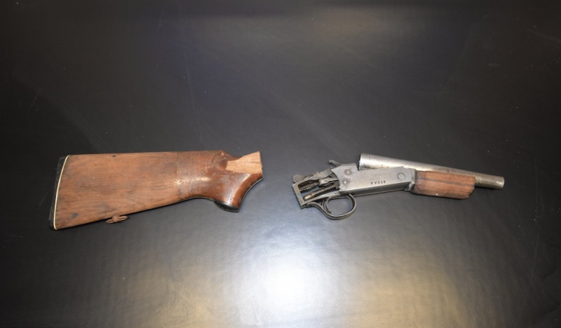 This sawed off shotgun were among the items Sault Ste. Marie Police seized during a raid April 20. (Supplied)