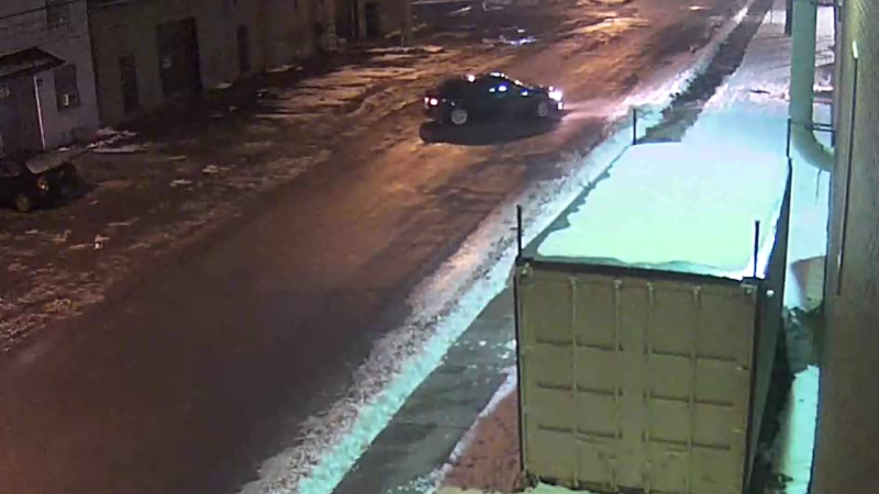 Ottawa police are looking for any information related to this sedan, which was seen on Loretta Avenue near Gladstone Avenue on Dec. 6, 2016 in connection with the unsolved homicide of Leslie Mwakio. (Photo provided by the Ottawa Police Service)