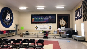 N'Amerind Friendship Centre In London, Ont., transformed into temporary two-day COVID-19 vaccine clinic on April 21, 2021. (Jordyn Read/CTV London)