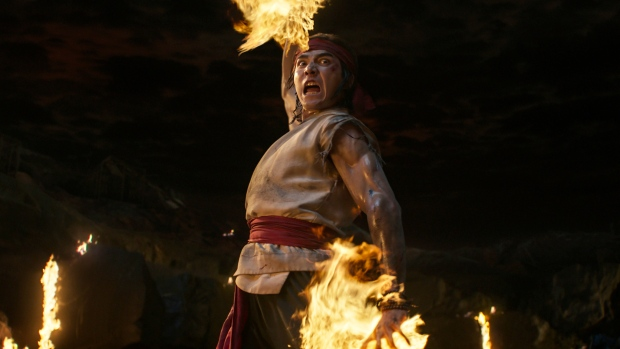 """This image released by Warner Bros. Pictures shows Vancouver actor Ludi Lin in a scene from """"Mortal Kombat."""" (Warner Bros. Pictures via AP)"""