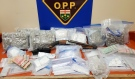 Three people are facing charges following two major drug busts April 20, police in Kirkland Lake said Wednesday. The combined street value of the drugs seized in the two busts is about $300,000, Ontario Provincial Police said. (Supplied)