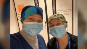 Ottawa nurses like Christie Cowan are being redeployed into ICUs at Ottawa hospitals during the COVID-19 pandemic. (Photo courtesy: Christie Cowan)