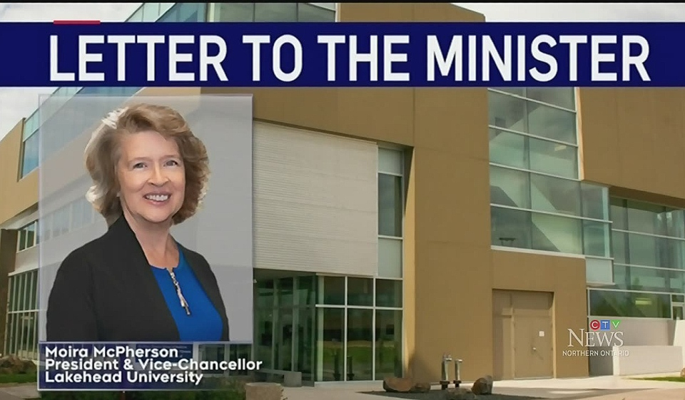 It's been less than a week since Minister of Colleges and Universities Ross Romano revealed the Northern Ontario School of Medicine was going to be granted independence but some say it's the wrong move. Lakehead University said it has yet to be consulted. (Photo from video)