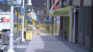 The Downtown Midland rejuvenation project enters its final phase on Wed. April 21, 2021 (Kraig Krause/CTV News)