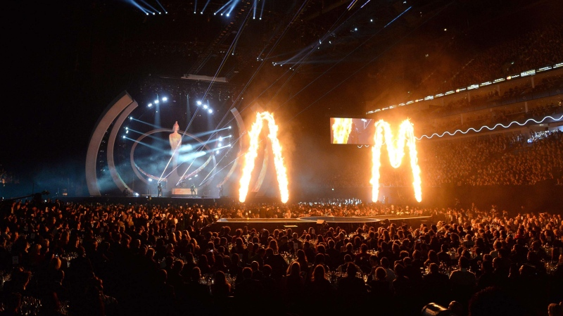 The U.K.'s flagship music awards ceremony, the Brits, will go ahead with a 4,000-strong crowd, no social distancing and no masks next month, as part of a government trial that offers a peek at how large events can operate in a post-pandemic world. (WENN Rights Ltd/Alamy Stock Photo/CNN)