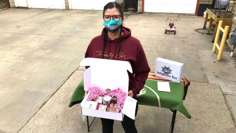 Mallory Yawnghwe recently created Indigenous Box, a quarterly subscription service that she and her family run out of their home in south Edmonton.
